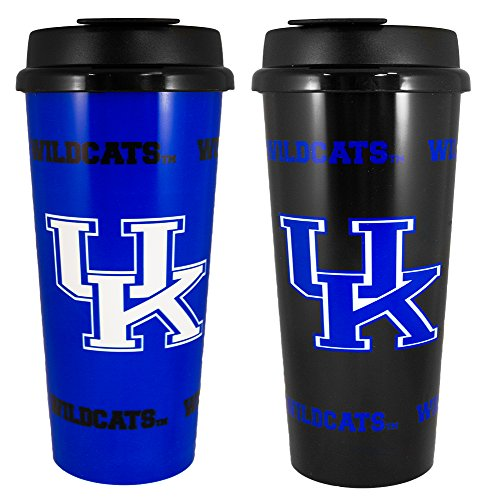 GameDay Novelty NCAA Kentucky Wildcats Insulated Travel Tumbler With No Spill Flip Lid, 16 oz, 2 Piece ()
