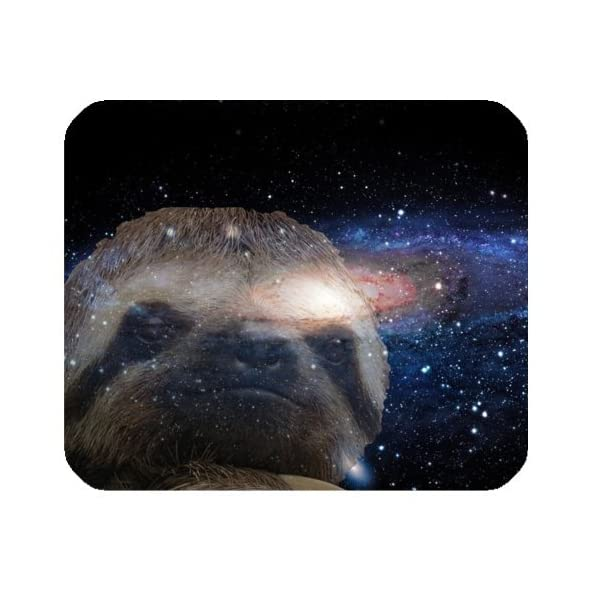 Wece Hipster Sloth Nebula Galaxy Space Universe Rectangle Non-Slip Rubber Mousepad Gaming Mouse Pad Mat -