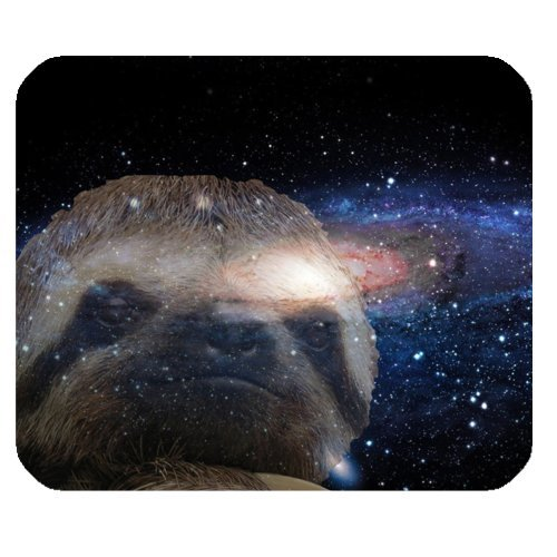 Hipster-Sloth-Nebula-Galaxy-Space-Universe-Rectangle-Non-Slip-Rubber-Mousepad-Gaming-Mouse-Pad-Mat