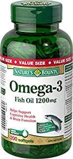Nature's Bounty Fish Oil Pills, Omega 3 Supplement, Helps Support Cardiovascular Health, 1200mg, 200 Softgels (B00BMEI14K) | Amazon price tracker / tracking, Amazon price history charts, Amazon price watches, Amazon price drop alerts