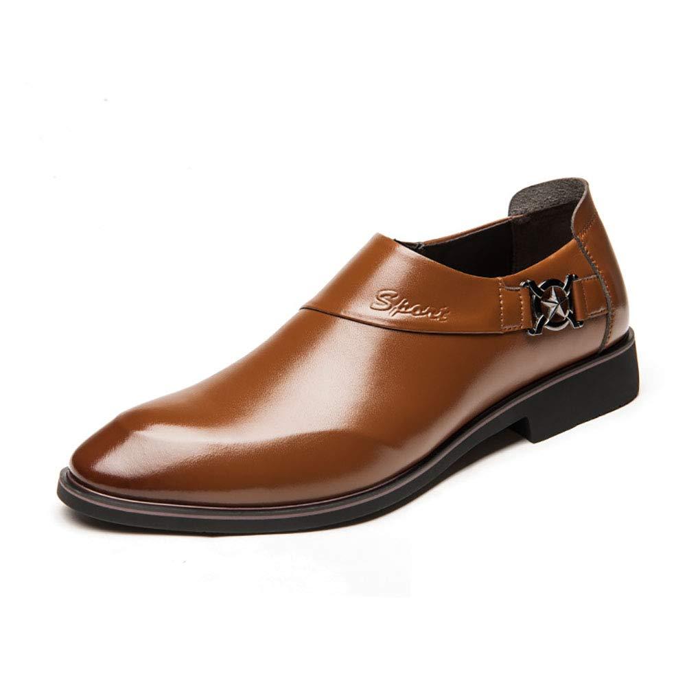 1971f27f17c FHTD Zapatos De Negocios Negocios Negocios Para Hombres Slip-ONS Y  Mocasines De Microfibra Zapatos De Boda Zapatos Formales De Punta 82605e