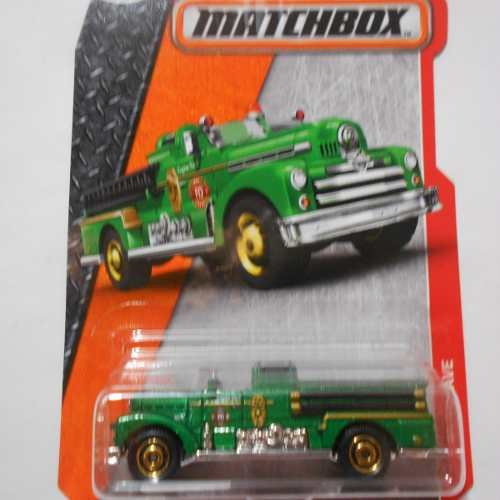Matchbox 2016 MBX Heroic Rescue Seagrave Fire Engine 70/125, (Seagrave Fire Engine)