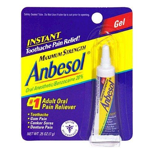 Anbesol anesthésique par voie orale, Force maximale, Gel 0,25 oz (7,1 g)