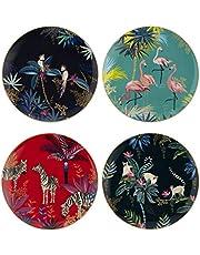 Sara Miller London for Portmeirion Tahiti Collection Salad Plates Set of 4