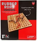 VIAHART Rubber Road Rubber Band Wooden Board Game and Pegboard