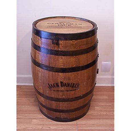 Whiskey Barrel Gentleman Jack Branded Engraved Sanded Finished