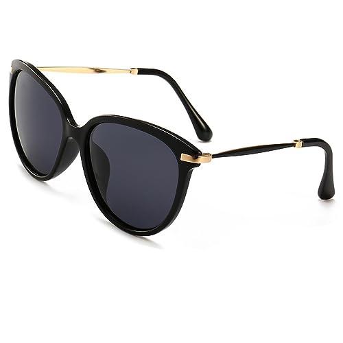d58d2237ed5f7 Women s Polarized Sunglasses Cat Eye Sunglasses Aviator Wayfarer Sunglasses  Case (black