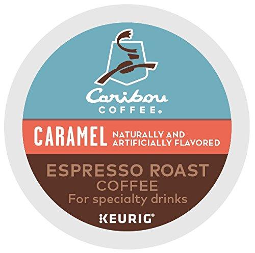Caribou Coffee Caribou Caramel, Single Serve Coffee K-Cup Pod, Flavored Coffee, 48