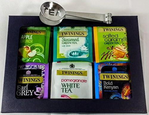Twinings Tea - Caja de té de lujo, color negro, 20 sabores, 35 bolsas de té envueltas