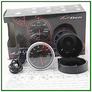 60mm def advanced oil temp gauge Amber red// white lights black face auto meter
