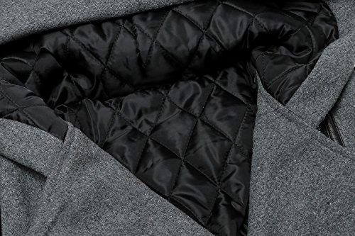 en Trench la Uojack Manteaux Mode Manches Coat Patchwork Longues ZAwqx46YWq