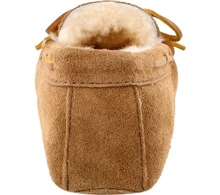 Minnetonka Sheepskin Softsole Moccasin, Mocasines para Hombre Beige (Tan)