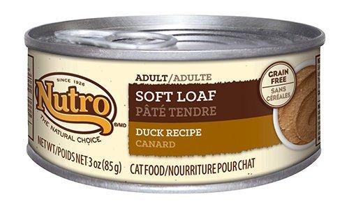 Nutro Soft Loaf Adult Wet Cat Food, Duck, 3 Oz. (Pack Of 24)
