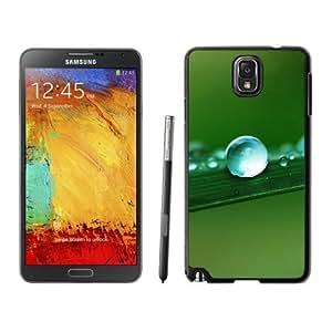 NEW Unique Custom Designed Samsung Galaxy Note 3 N900A N900V N900P N900T Phone Case With Water Drop Macro Leaf_Black Phone Case