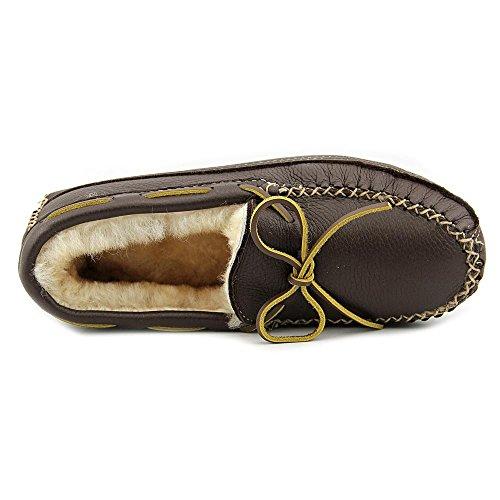 Slipper Moose Sheepskin Chocolate Lined Minnetonka v8OWAaan