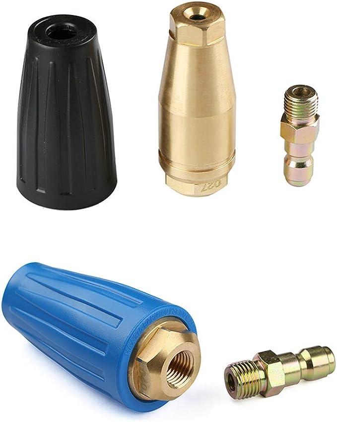 DIYARTS accesorio de pistola de limpieza de conexi/ón r/ápida para lavado de coche para lavadora de alta presi/ón Boquilla turbo giratoria de cer/ámica con n/úcleo de 360 /°
