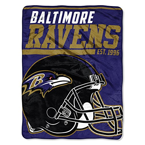 NFL Baltimore Ravens 40 Yard Dash Micro Raschel Throw, 46