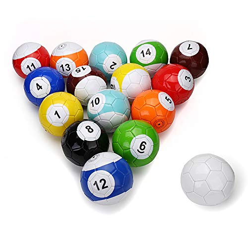 Electric Magic 16 Pcs Gaint Snookball Snook Ball Snooker Street Soccer Ball Game Huge Billiards Pool Football Sport Poolball Size 3