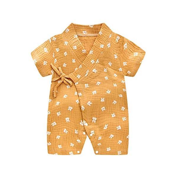 Bébé Kimono Barboteuse Coton Infant Manches courtes Body Pyjama Mignon Japonais Enfants Outfit Garçons et Filles Jumpsuit Toddler Playwear 1