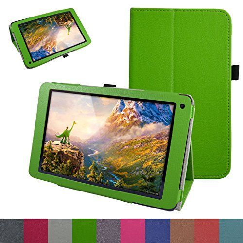 10.1 Fusion5 104 GPS Case,Mama Mouth PU Leather Folio 2-Folding Stand Cover for 10.1 Fusion5 104 GPS Android 5.1 Lollipop Tablet PC,Green