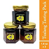 Tualang Honey 1.8 oz x 3 Jars (Tasting Mini-Pack: Black, Red, Yellow Honey) | Best Season Wild Harvested from Sumatra Tropical Rainforest | Raw, Unpasteurized, Unfiltered | Award-Winning