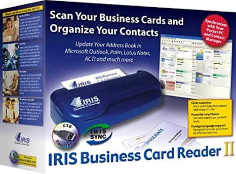 Amazon iris business card reader ii for windowspc office products reheart Choice Image