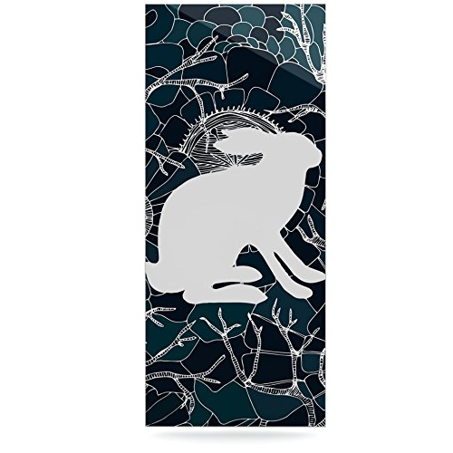 Kess InHouse Anchobee Hare Blue White Luxe Rectangle Panel 24 x 36