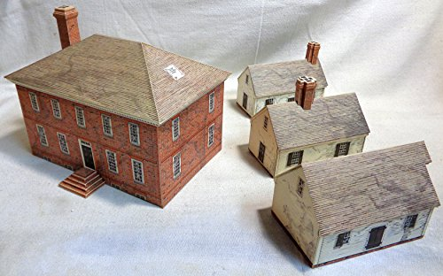 AHM George Wythe House - Hand Built up cardstock & Wood Building Structure 3 Dimensional kit ()