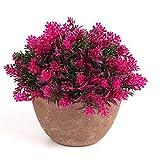 OKFCUS Artificial Fake Green Flower Pot Plant Lucky Grass Orchid Garden Desk Art Decors 3#