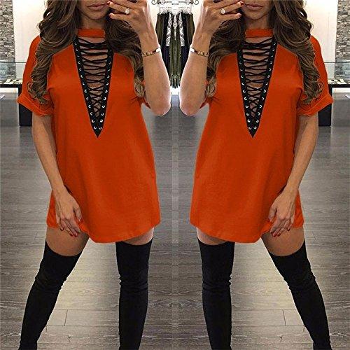 Black Neck Color JYZ T Solid Short Sleeves Sexy Shirt Cotton Nightclub V Hot Hollow Sales Dress qqIwZBz