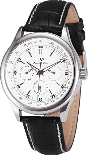 KS Imperial Classic White Dial Date Day 24 Hours Wrist Men
