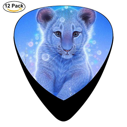 Little Lion Celluloid Guitar Picks Plectrums For Guitar Bass,12 Pack (Light Tip Fender)