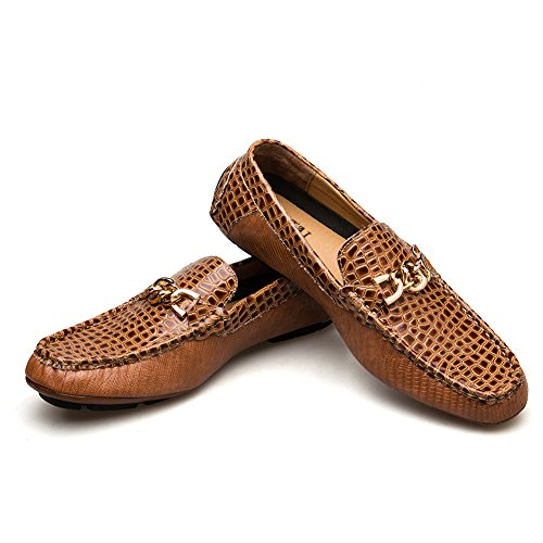 JITAI Men's Driving Penny Loafers Suede Driver Moccasins Slip On Flats Casual Dress Boat Shoes (9 (D) M US, ()
