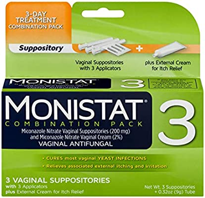 Monistat 3 Day Yeast Infection Treatment Suppositories Itch Relief Cream Amazon Sg Health Personal Care
