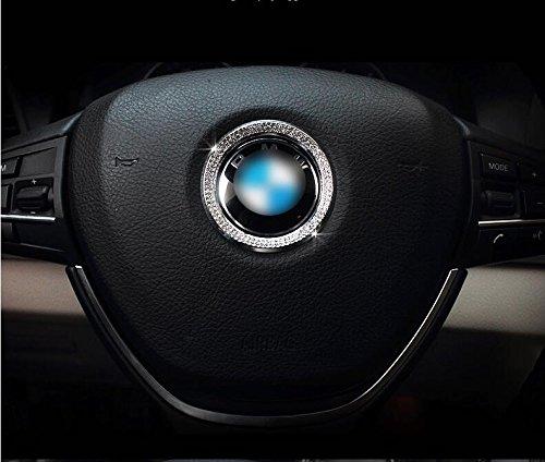 E281 Rhinestone Ring for Steering Wheel Emblem E46 E52 E53 E60 F01 F30 F20 F10 M3 M5 (Best Wheels For E46 M3)