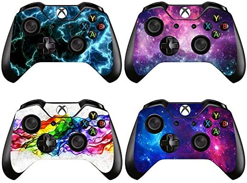 eSeeking [4PCS] Whole Body Vinyl Sticker Decal Cover Skin for Xbox One Controller - 4pcs. Combination