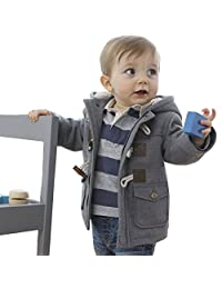 ARAUS Baby Boy Horn Buckle Jacket Hooded Gilets Long Sleeve Coat Fall Winter Clothes