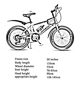 DT TD Bicicleta Infantil 6-7-8-9-10 Años Niño Niño, Mujer 20 ...
