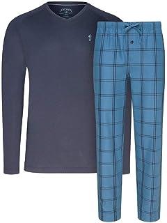 JOCKEY Herren Kurz-Pyjama mit karierter Hose Kurz-Pyjama Loungewear