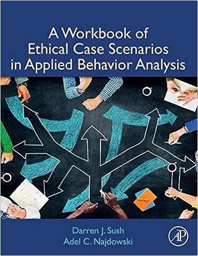 Amazon com: A Workbook of Ethical Case Scenarios in Applied Behavior
