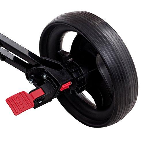 Tangkula Golf Push Cart Lightweight 3 Wheels Foldable Golf Club Push Pull Cart Trolley Golf Pull Cart