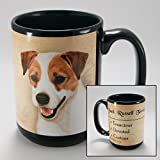 Dog Breeds (A-K) Jack Russell 15-oz Coffee Mug Bundle with Non-Negotiable K-Nine Cash by Imprints Plus (100)