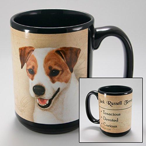 Russell Ceramic Mug (Dog Breeds (A-K) Jack Russell 15-oz Coffee Mug Bundle with Non-Negotiable K-Nine Cash by Imprints Plus)
