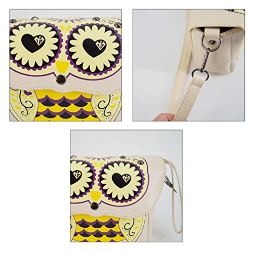 Leather Shoulder Off Cute Bag White Owl Pattern PU Bag Cartoon Crossbody YAOSEN w6a0AqWn6