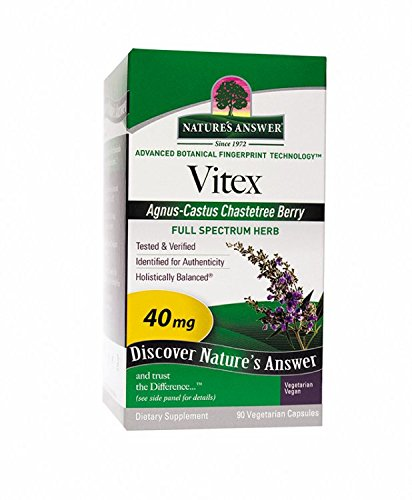 Vitex Agnus-Castus Chastetree Berry 90 Veg Caps by Natures Answer: Amazon.es: Salud y cuidado personal