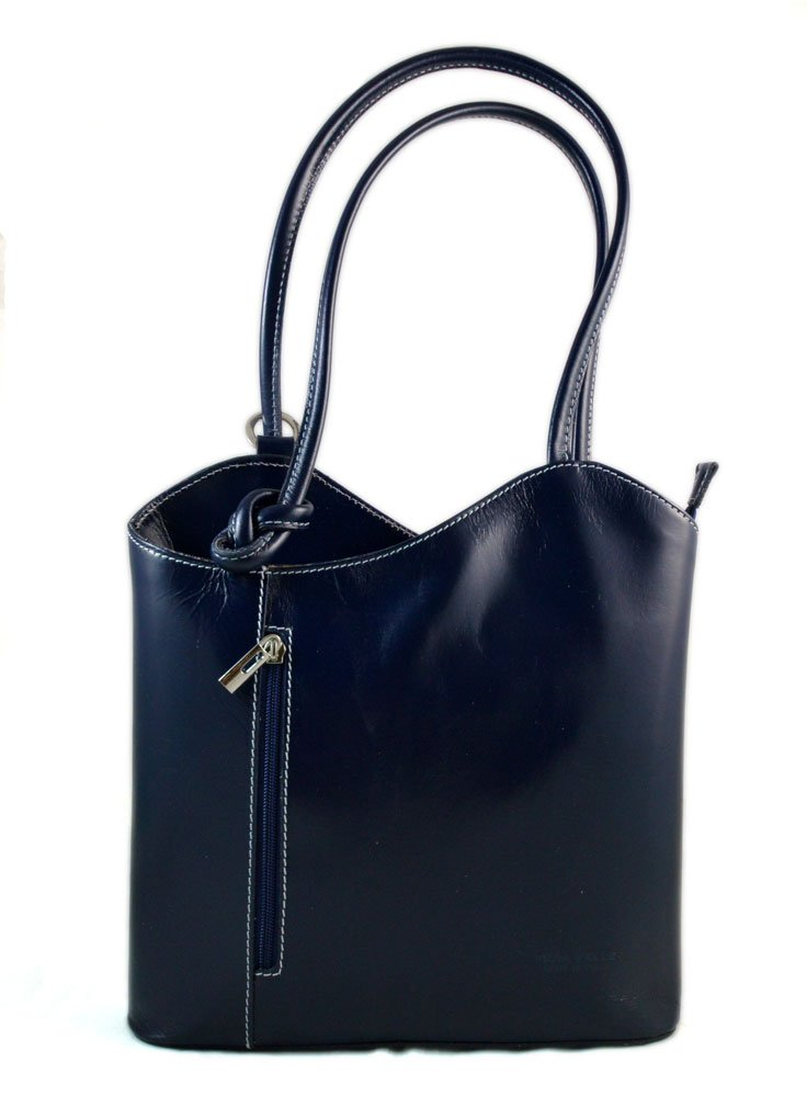 Ladies handbag petrol blue leather bag clutch hobo bag backpack crossbody women bag made in Italy