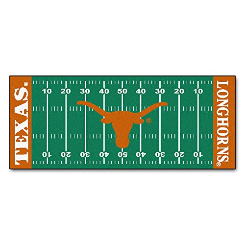 FANMATS NCAA University of Texas Longhorns Nylon Face Football Field (University Floor Runner)