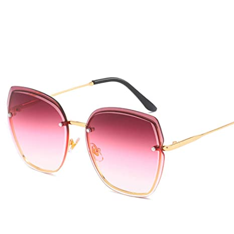 Yangjing-hl Gafas de Sol sin Marco Gafas de Sol Moda Street ...