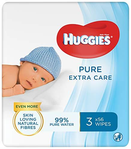Huggies baby billendoekjes Pure Extra Care – 168 doekjes – 3 x 56 doekjes – Voordeelverpakking