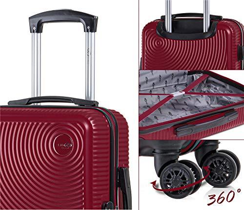 CABIN GO 5512 Valigia Trolley ABS, bagaglio a mano 55x37x20, Valigia rigida, guscio duro e antigraffio con 8 ruote… 5 spesavip